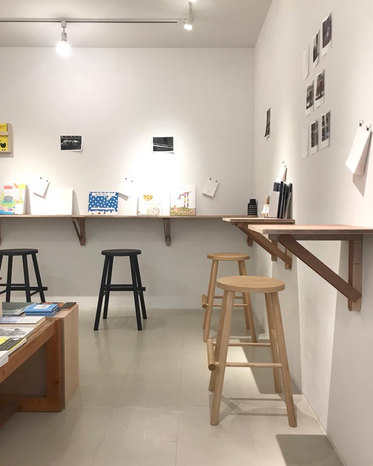 「books and coffee and stool」